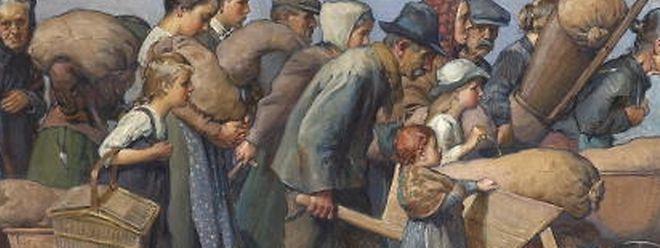 Le marché noir, Tableau de Pierre Blanc 1917, MNHA