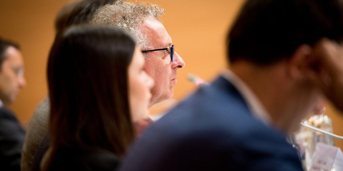 """Débat public: """"Une fiscalité compétitive pour une croissance qualitative au Luxembourg"""" Chambre de Commerce Pierre gramegna Carlo Thelen Nicolas Buck Luxembourg le 2806.2017 ©Christophe Olinger"""