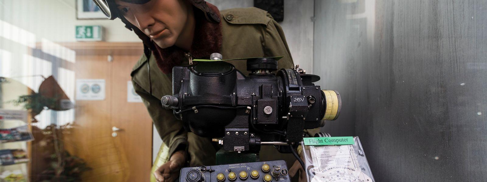 """Geheime Kriegswaffe und zugleich ein seltenes Exponat im """"WWII 385th Bomb Group Museum"""" in Perlé: das """"Norden Bombenabwurfzielgerät""""."""