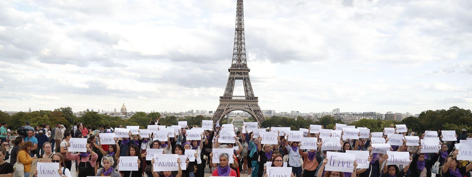 A Paris, des militantes dénoncent les «féminicides» en France