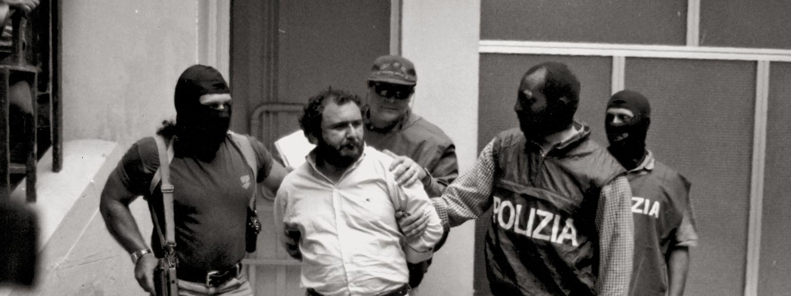 Giovanni Brusca nach seiner Verhaftung am 20. Mai 1996.
