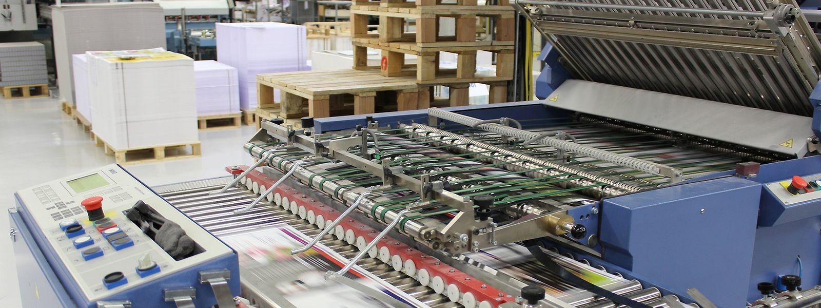 La salle d'impression à Mersch de l'Imprimerie Faber.