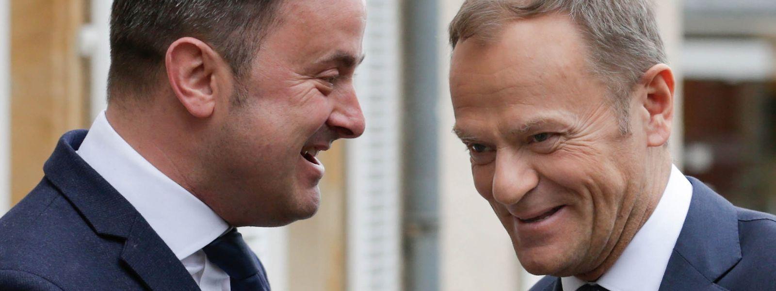 Bei einer Visite von EU-Ratspräsident Donald Tusk hat sich Xavier Bettel gegen Steuerharmonisierungspläne ausgesprochen.