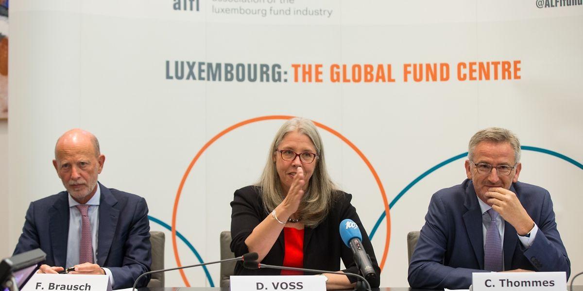 Freddy Brausch, Denise Voss et Camille Thommes.