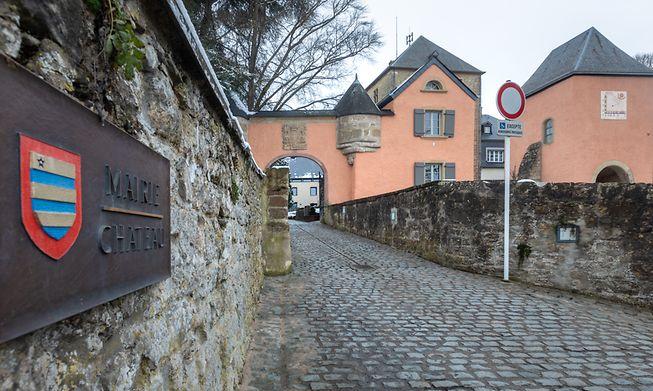 Mersch town hall, in a former castle