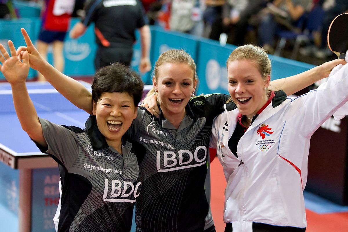 Les fers de lance du tennis de table féminin: Ni Xia Lian, Sarah De Nutte et Tessy Gonderinger.