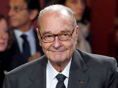 Former French President Jacques Chirac, shown here at the award ceremony for the Prix de la Fondation Chirac at the Quai Branly Museum in Paris, France, on November 21, 2014.