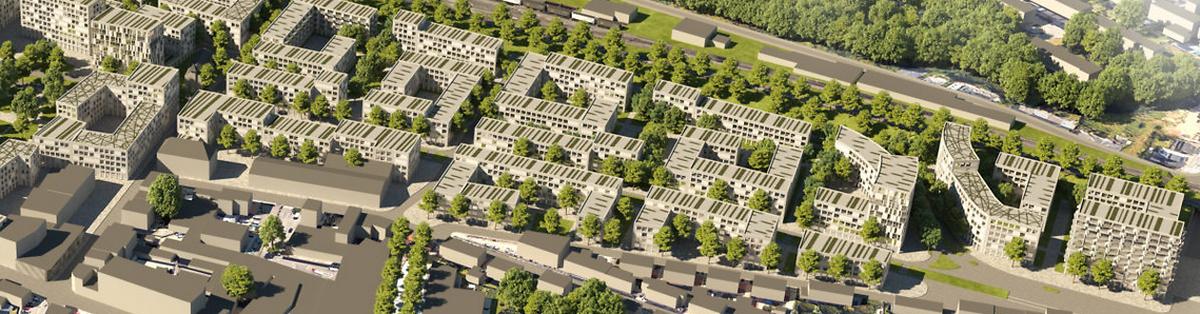 Les nouvelles constructions projetées à la place de l'actuelle CNS apparaissent déjà sur Masterplan du «Quartier Hollerich» (à droite).
