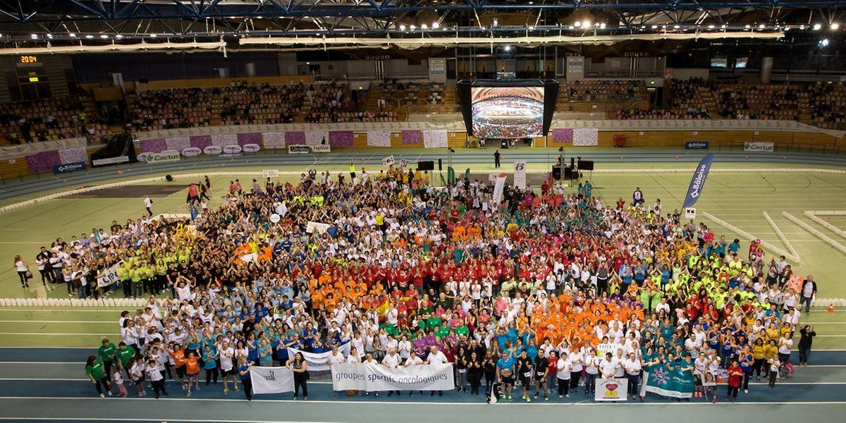 """Am """"Relais pour la Vie"""" nahmen mehr als 10.500 Personen teil."""