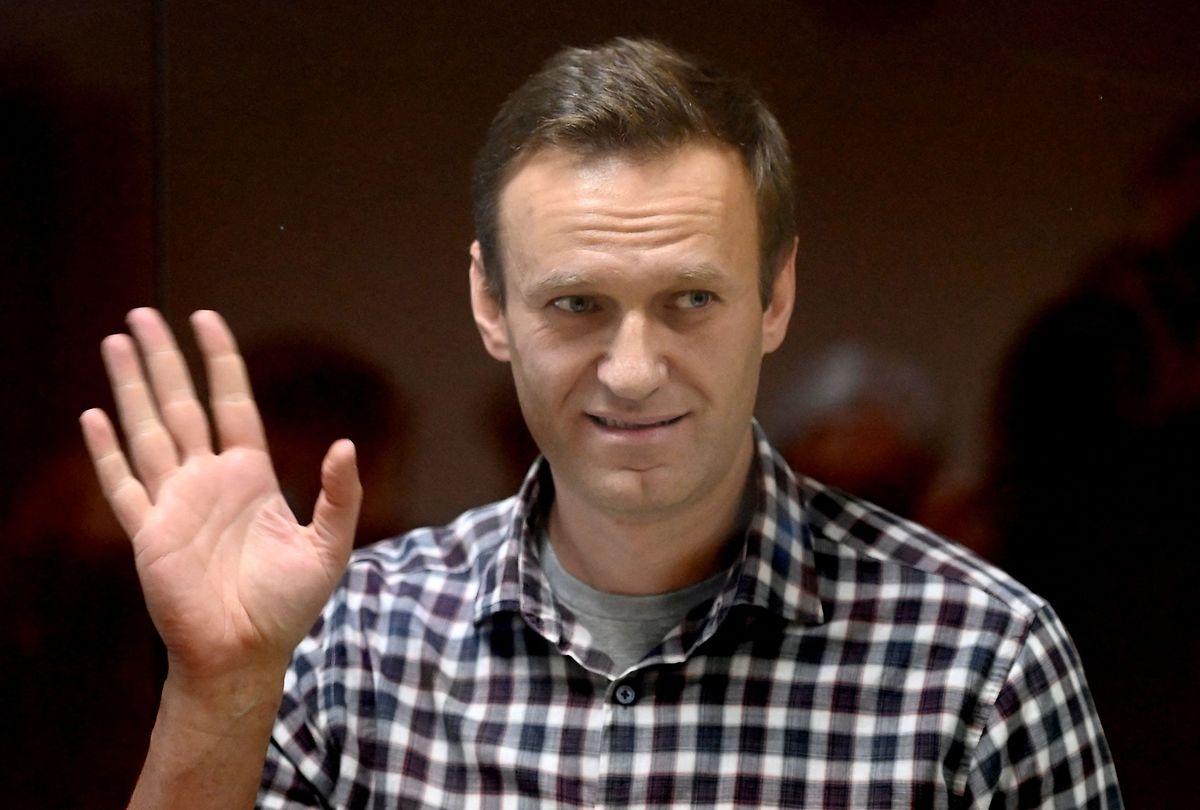 Alexej Nawalny bei seinem Gerichtsprozess im vergangenen Februar.
