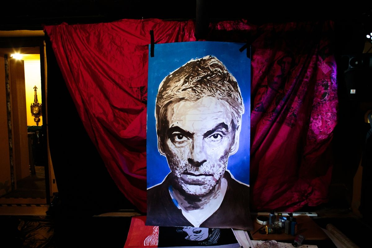 Das Porträt von dem portugiesischen Filmregisseur Pedro Costa.