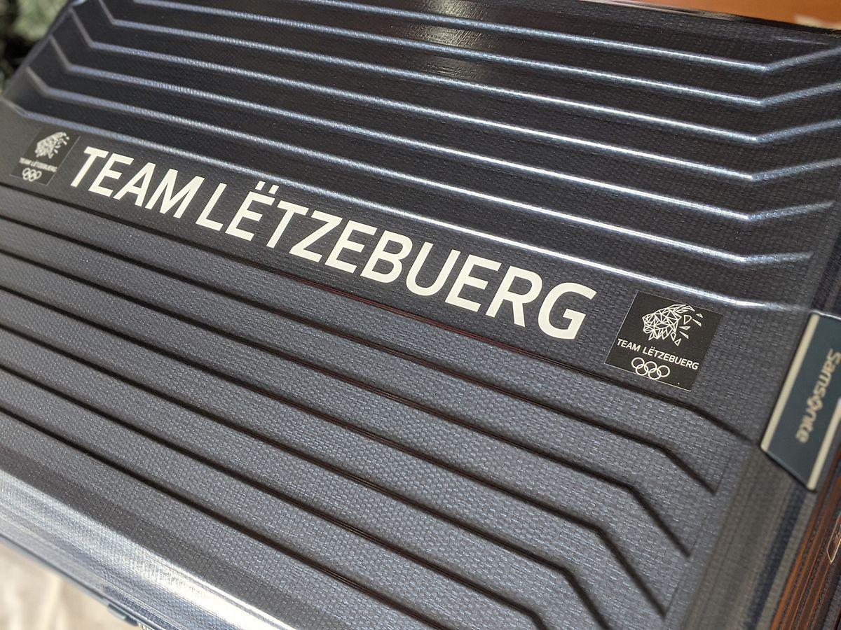 Die Koffer der Mitglieder des Team Lëtzebuerg.