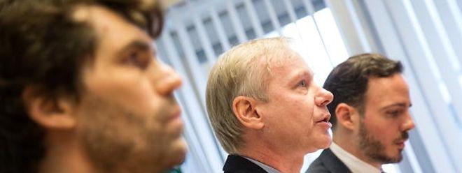 Alain Schmit, président de l'AMMD (au centre): «Pour nous le conseil médical à une vocation médicale au sein de l'hôpital et pas de syndicat. Le syndicat c'est l'AMMD!»