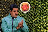 "Handout picture released by the Venezuelan Presidency showing Venezuela's President Nicolas Maduro during the closing ceremony and balance of military exercices in Caracas, on February 15, 2019. - Venezuelan President Nicolas Maduro has admitted one of his top officials held two meetings with a prominent US diplomat. (Photo by HO / Venezuelan Presidency / AFP) / RESTRICTED TO EDITORIAL USE - MANDATORY CREDIT ""AFP PHOTO / VENEZUELAN PRESIDENCY"" - NO MARKETING NO ADVERTISING CAMPAIGNS - DISTRIBUTED AS A SERVICE TO CLIENTS"