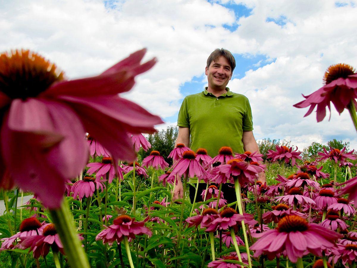 Franz Gruber ist Geschäftsführer von Die Garten Tulln in Niederösterreich. Die Anlage wurde 2008 als Landesgartenschau eingerichtet.