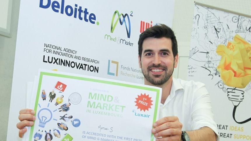 Le gagnant du premier Mind&Market, Raphaël Frank, Motion-S Project Holder