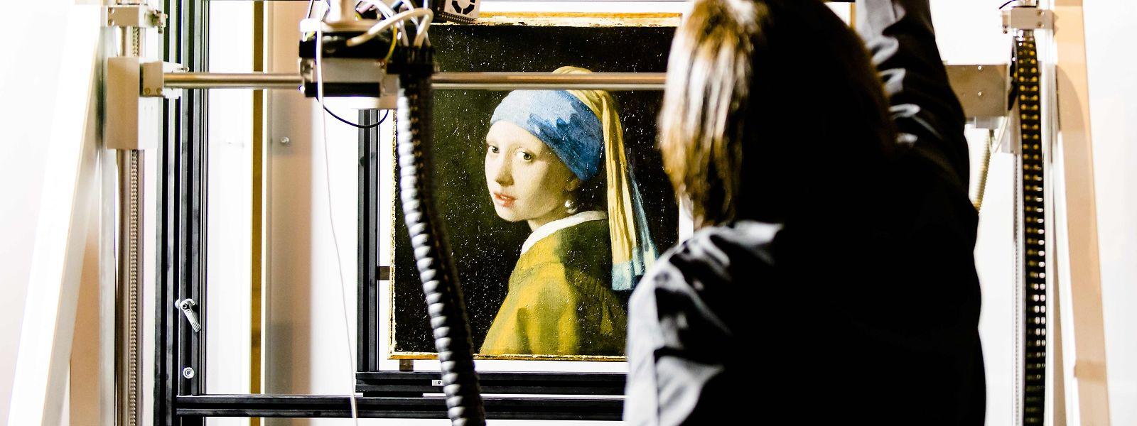 Das Gemälde wurde mit modernster Technik untersucht.