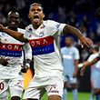 Lyon's Spanish forward Mariano Diaz celebrates after scoring a goal during the French L1 football match between Lyon (OL) and Monaco (ASM), on October 13, 2017 at the Groupama stadium in Decines-Charpieu near Lyon, southeastern France. / AFP PHOTO / JEAN-PHILIPPE KSIAZEK