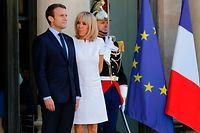 Die starke Frau hinter dem mächtigen Mann: Brigitte Macron und Frankreichs Präsident Emmanuel Macron.
