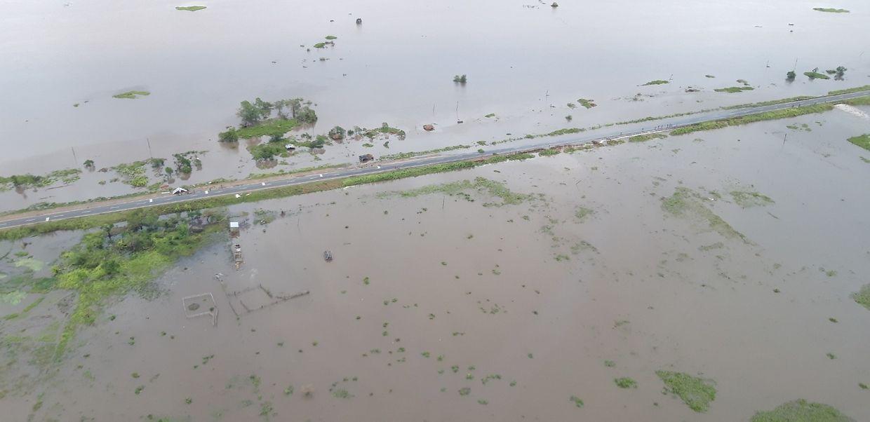 Überschwemmungskatastrophe in Mosambik.