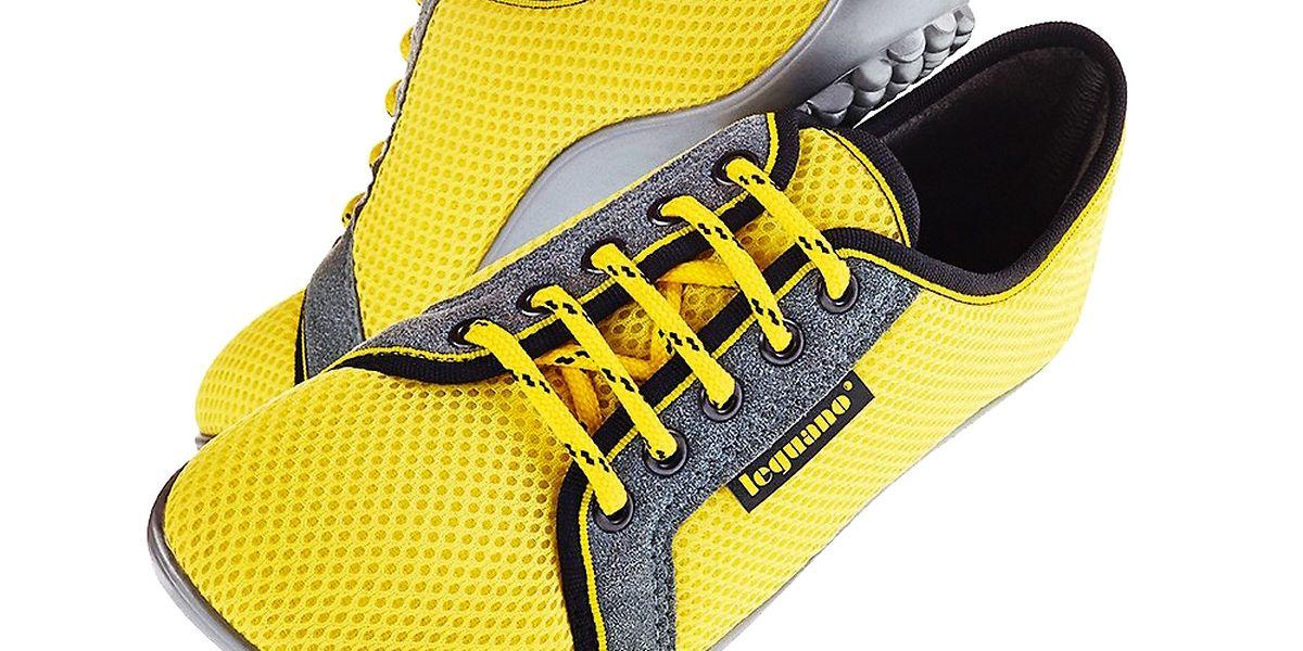 Mit den sockenähnlichen Schuhen findet sich immer ein Gesprächsthema.