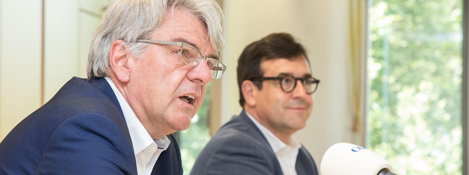 Pour Romain Wolff et Steve Heiliger, le gouvernement reste trop sourd aux avis des fonctionnaires et leurs représentants.