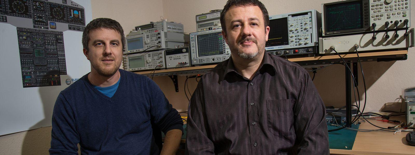 Cédric Lorant et Henri Du Faux, fondateurs et gérants d'Emtronix: «Luxinnovation et l'ESA nous ont donné cette impulsion, en nous confiant des projets.»