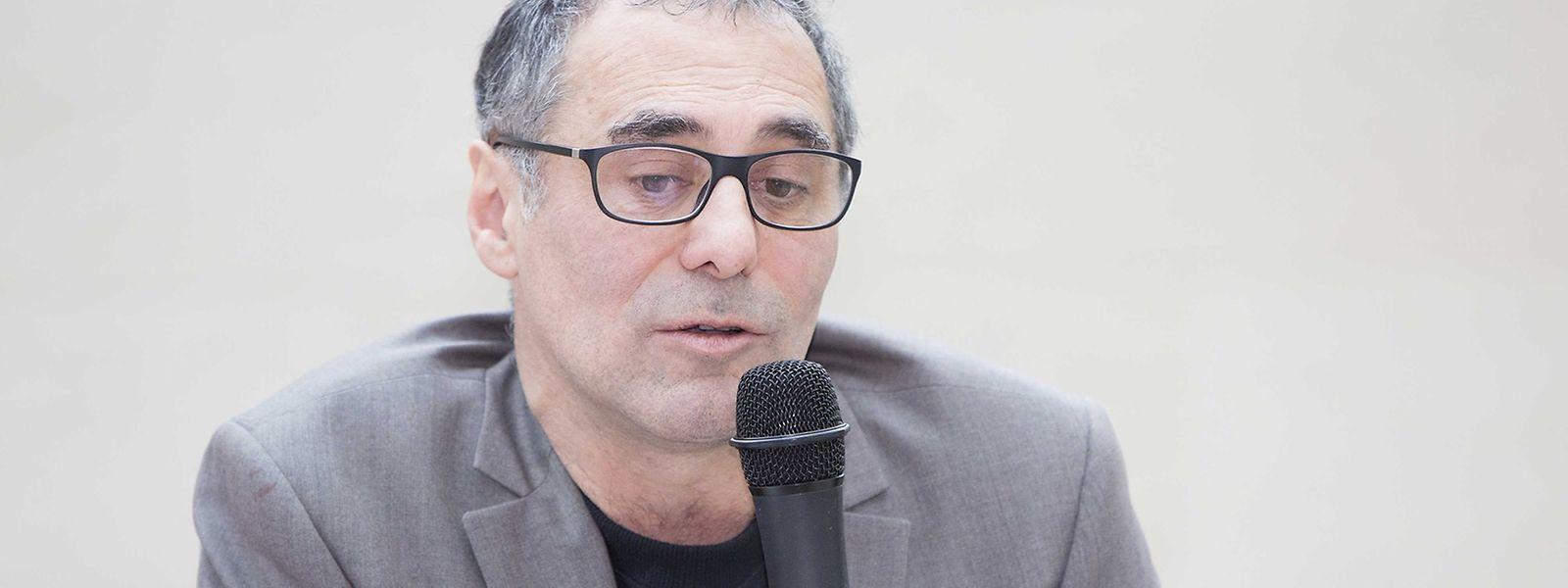 La dernière conférence de presse d'Enrico Lunghi au Mudam, le 1er décembre 2016.