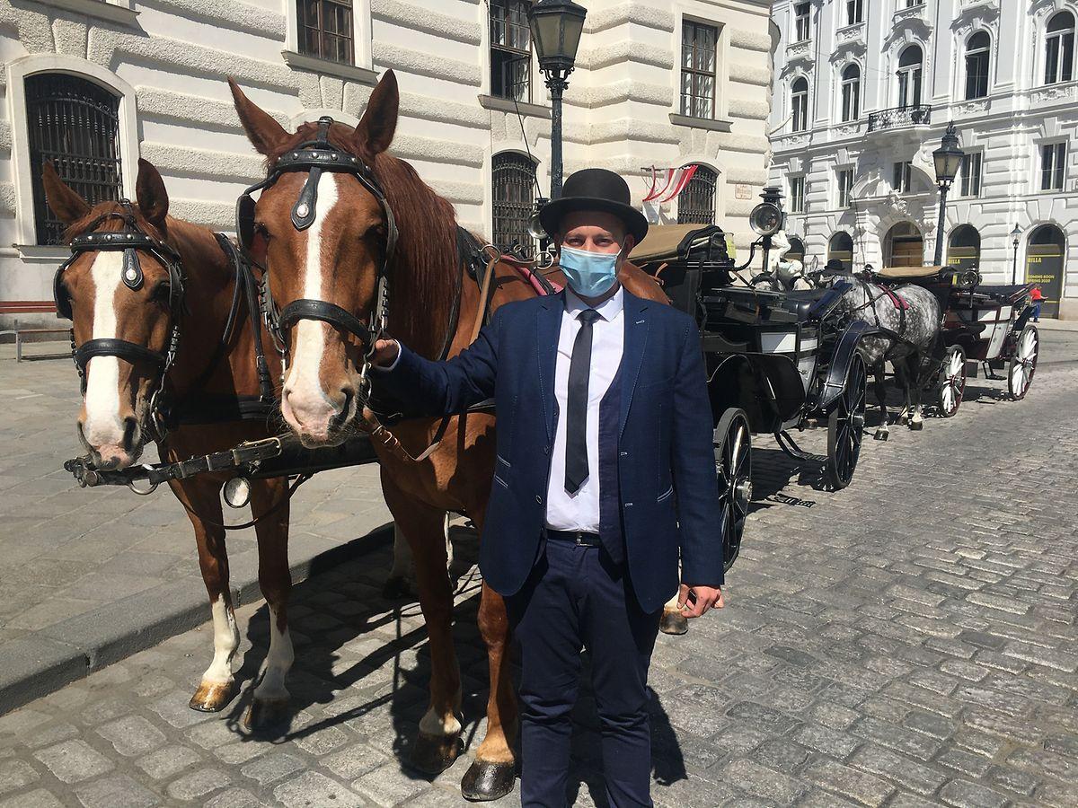 Ein Fiaker-Fahrer in Wien.