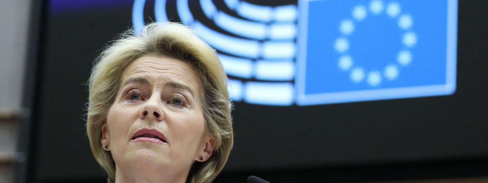 Ursula von der Leyen a mis en garde contre «le coût de l'inaction» face au changement climatique.
