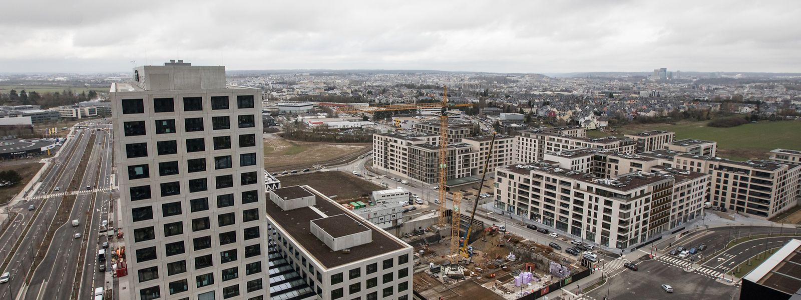 Hinter dem Firmensitz von Deloitte sollen gleich drei neue Gebäude entstehen.