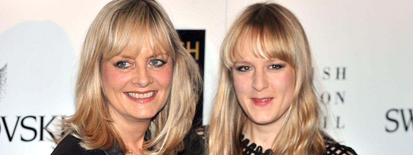 Twiggy (l.), mit bürgerlichem Namen Lesley Lawson, und ihre Tochter Carly.