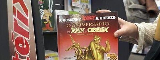 Der neue Asterix-Band in einer Buchhandlung in Lissabon.