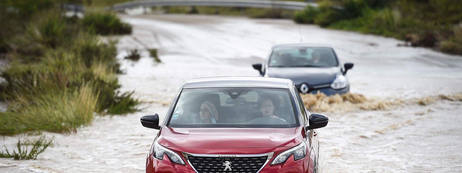 Überflutungen in Aigues im Département Gard.