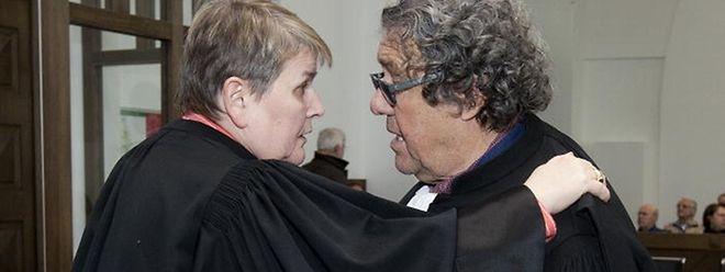 Me Lorang et Me Vogel, les avocats de la défense.