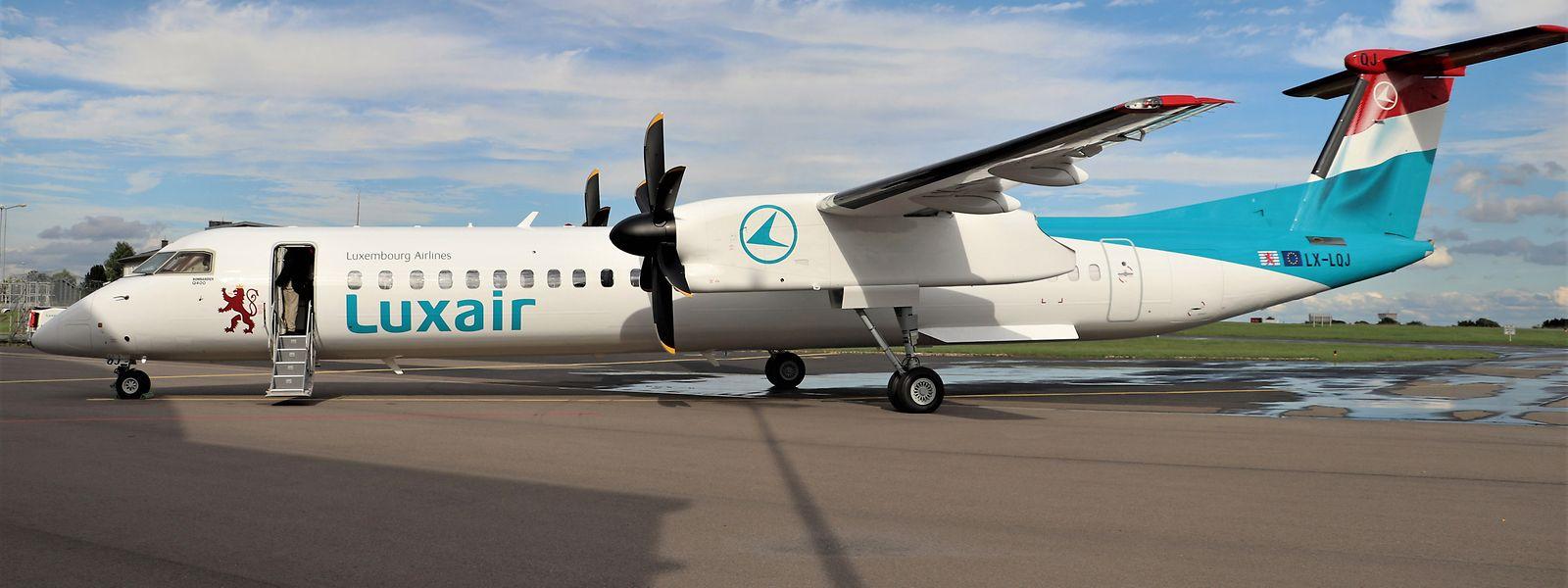 Eine der Bombardier-Q400-Maschinen der Luxair.