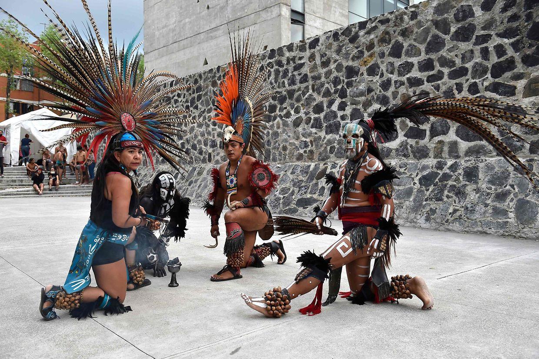 Mexico City. Junge Mexikaner lassen ein uraltes Ballspiel wieder aufleben, das einst von den Azteken, Maya und Inkas gespielt wurde. Ulama wurde vor mehr als fünf Jahrhunderten in Mesoamerika gespielt, bevor die spanischen Eroberer 1519 in das Gebiet kamen.