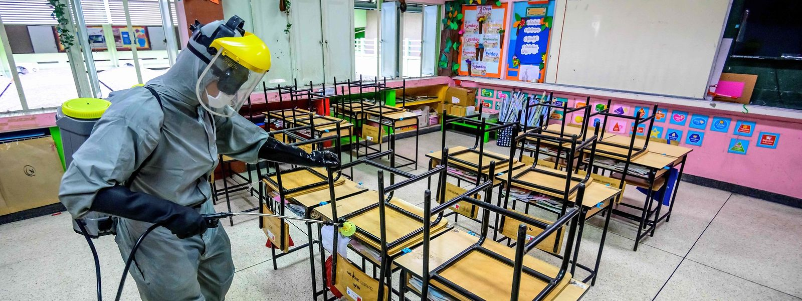 Traitement radical dans les écoles de Taïwan.On n'en est pas encore là dans les classes du Luxembourg.