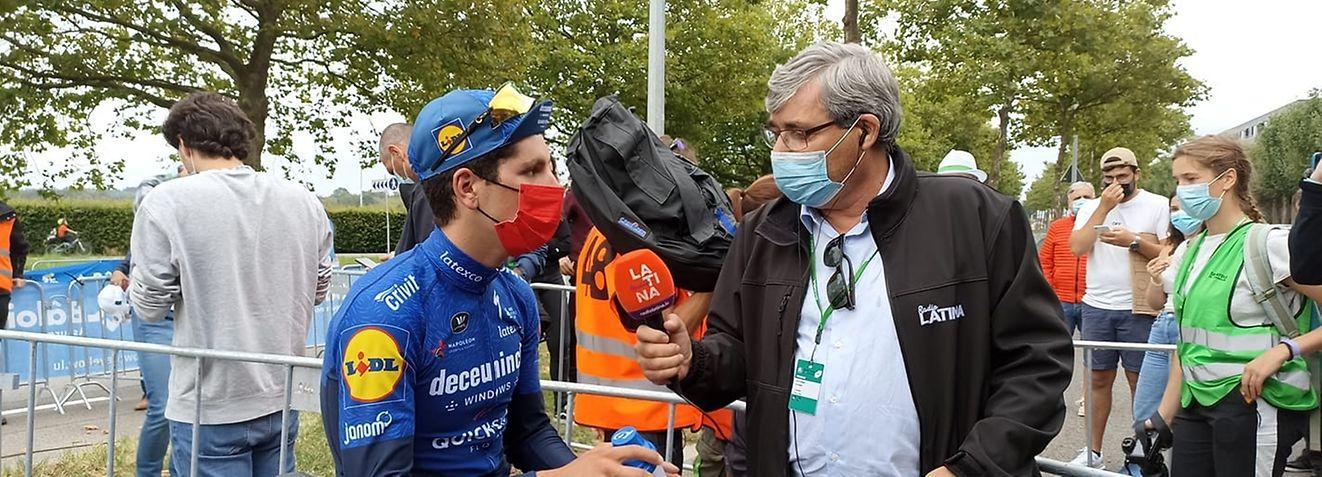João Almeida, o único português em prova no Skoda Tour 2021, em entrevista à Rádio Latina.