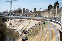 Le chantier du nouveau viaduc Pulvermühle inauguré ce mardi.