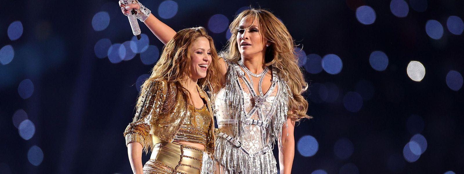 Geballte Latino-Power: Shakira and Jennifer Lopez während der Halbzeitshow des Super Bowl LIV.