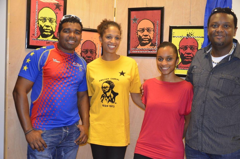 Amílcar Cabral foi recordado na conferência promovida por um grupo de alunas de várias nacionalidades, um evento que contou com a presença do pintor Nelson Neves (à dta.)