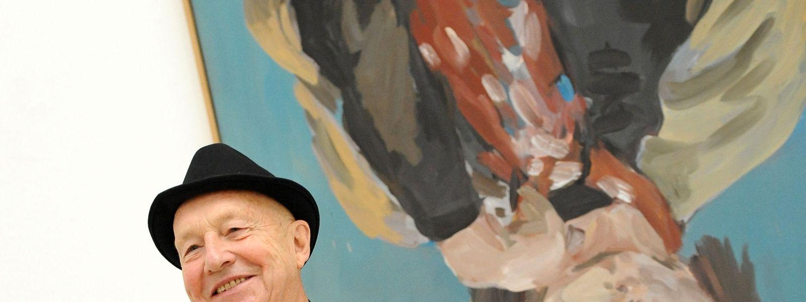 """Mit seinen""""Umkehrbildern"""" entwarf Georg Baselitz die Welt kopfüber neu."""