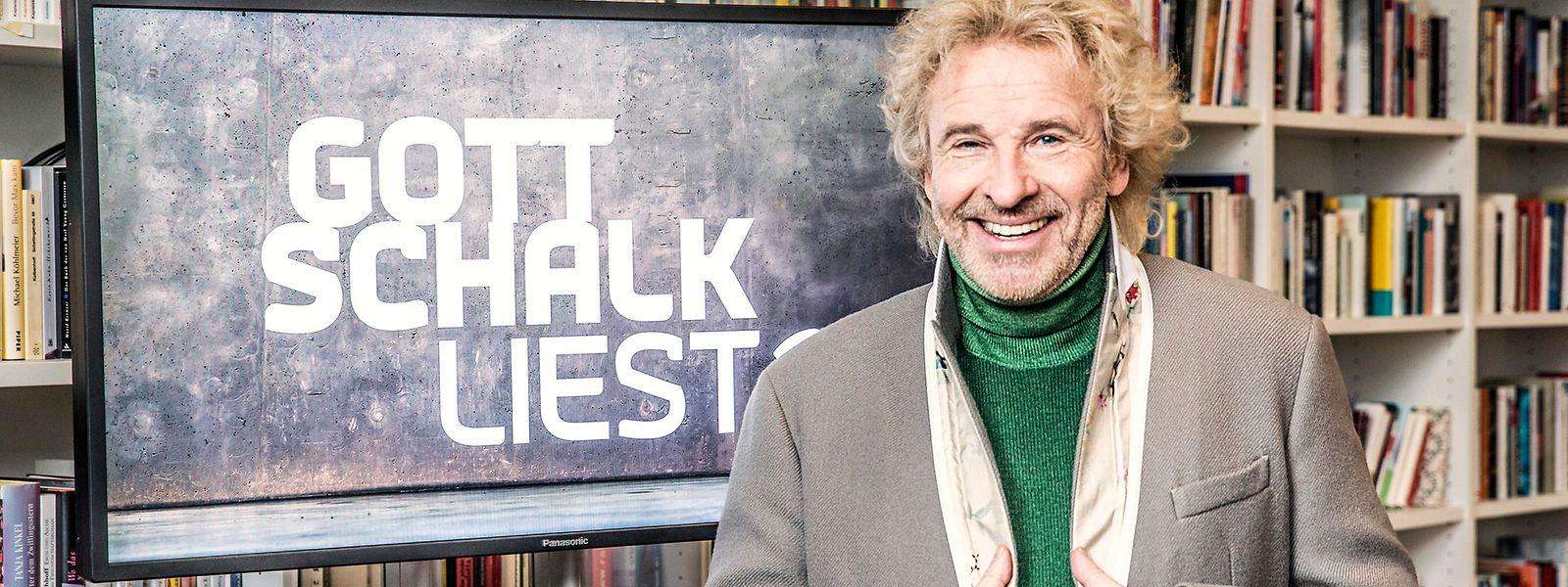 """TV-Urgestein Thomas Gottschalk will Bücherwürmer mit vier """"Gottschalk liest?""""-Folgen pro Jahr beglücken."""
