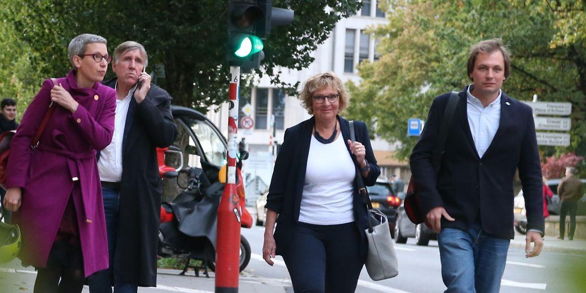 Deux hommes pour deux femmes: les Verts ont respecté le quota de 40% de femmes pour les communales.