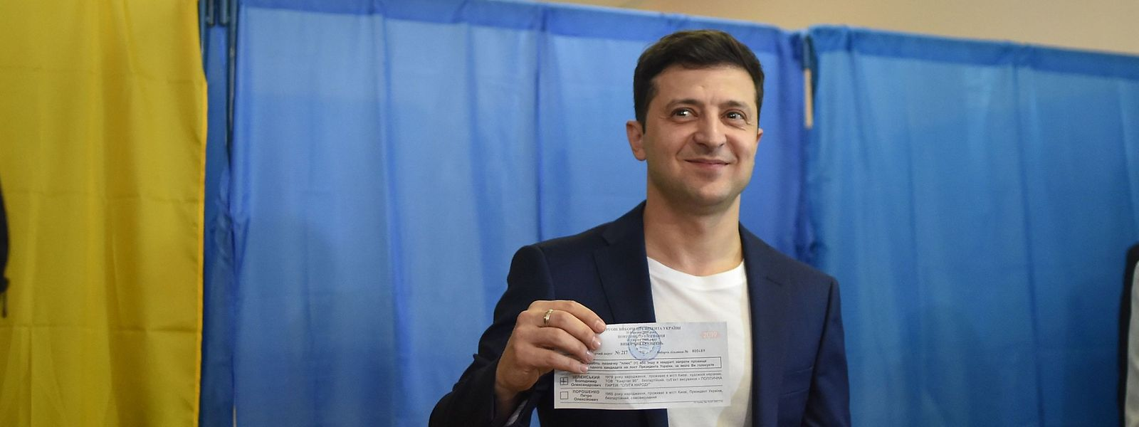 Polit-Neuling Wolodymyr Selenskyj hat gewählt.