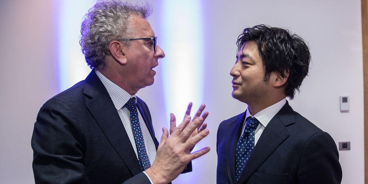 Pierre Gramegna accueille BitFlyer et son fondateur Yuzo Kano-Sa à la LHoFT.