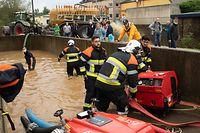Lokales,Hochwasser,Überschwemmungen nach Starkregen in Schouweiler..Foto: Gerry Huberty/Luxemburger Wort