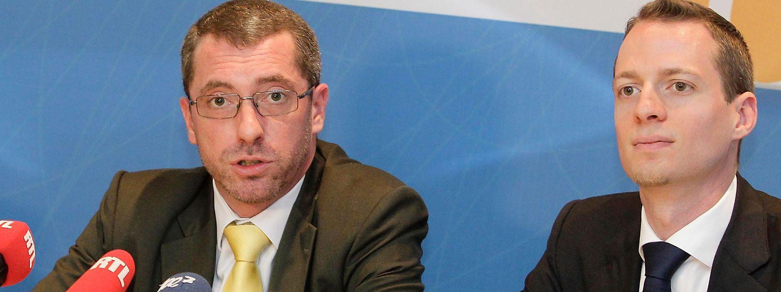 Serge Wilmes (l.)und Frank Engel wollen beide Präsident der CSV werden.