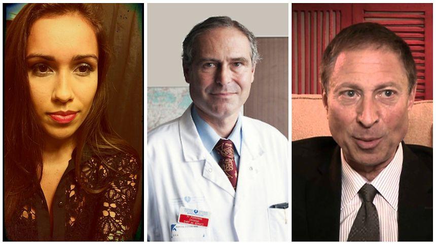 Tania Silva, le Dr Christian Perronne, le Dr Richard Horowitz